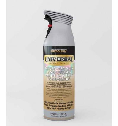 Níquel Satín Metalizado  - Pintura en spray Universal Rust-Oleum Xylazel