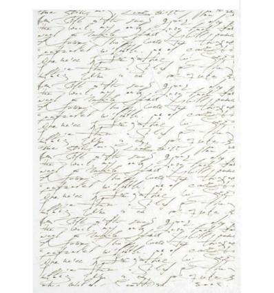 Papel de arroz -  letras - 21x29