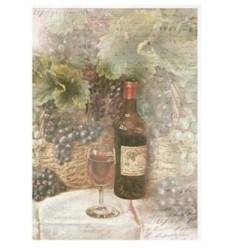 Papel de arroz - Vino y Uvas