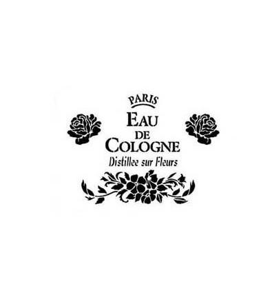 Plantilla de estarcido Eau de Cologne
