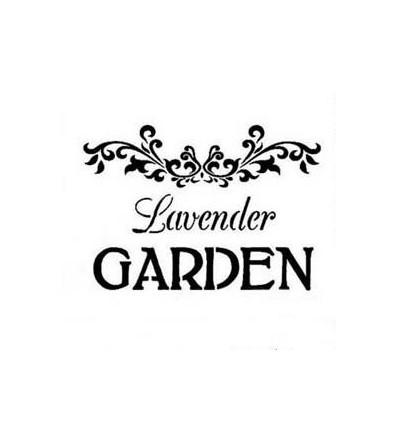 Plantilla estarcido Garden