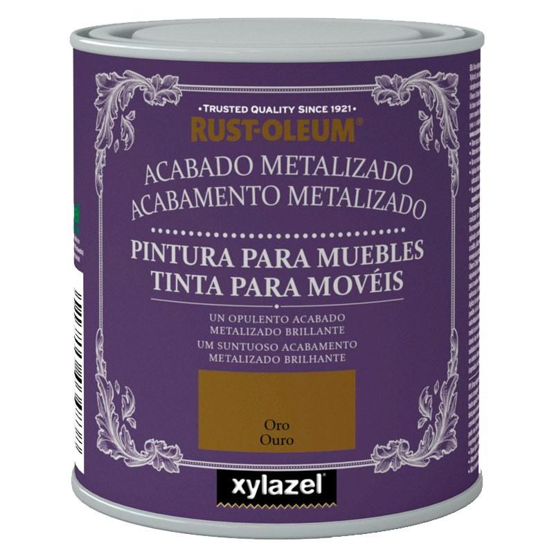 Pintura para muebles xylazel acabado metalizado tienda for Pintura para muebles