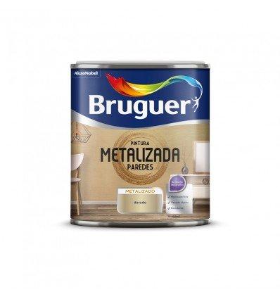 Pintura efecto metalizada paredes Bruguer
