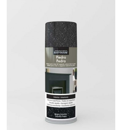 Negro granito - Pintura en spray Piedra Rust-Oleum Xylazel